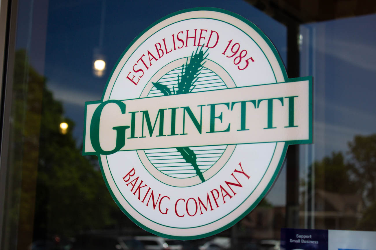 "If you're expecting to find a Giminetti family behind the Italian restaurant and bakery, you're not going to find one. The name actually comes from a combination of the original owners' names, Jim and Eddie. (Say it real fast, and you'll see what we mean.) There isn't a 'J' in the Italian alphabet, so 'Giminetti' landed as the final spelling of the fused names. ""Jim and Ed's Real Good Breads"" was another name contender. / Image: Katie Robinson, Cincinnati Refined // Published: 6.13.19"
