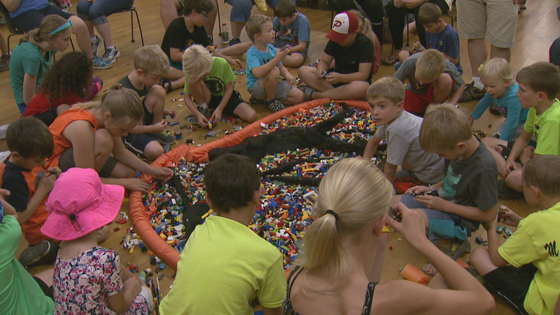 The Lego build event was held at Bay Beach Amusement Park Saturday, Aug. 12, 2017. (WLUK)