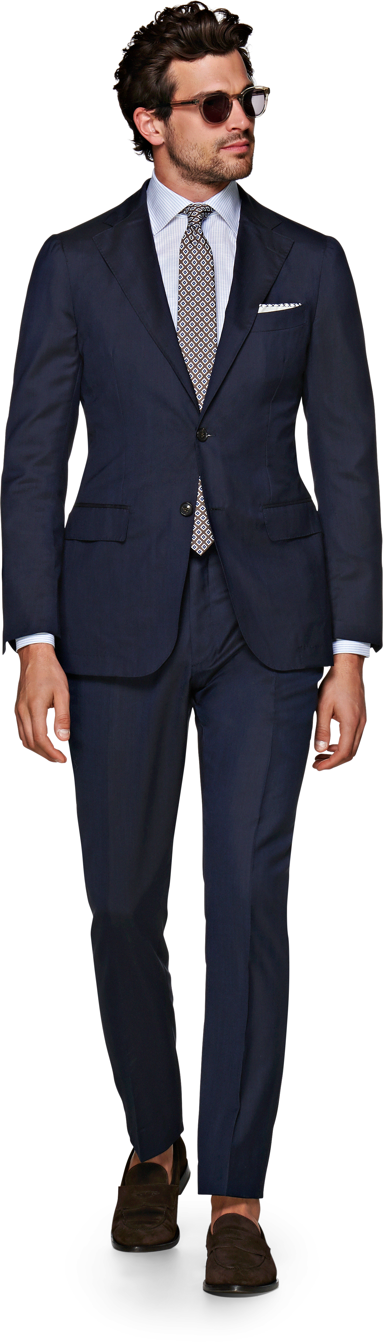 "I've personally never worn a suit but I can imagine how those bad boys could sometimes weigh you down. BUT!{&nbsp;}<a  href=""https://us.suitsupply.com/en_US/suits/havana-navy--suit/P5654I.html?pdp=true"" target=""_blank"" title=""https://us.suitsupply.com/en_US/suits/havana-navy--suit/P5654I.html?pdp=true"">Suit Supply just released their lightest suit yet - unlined and completely unconstructed, the World's Lightest Suit</a>{&nbsp;}reimagines their Havana fit to make it breaaaaathe. ""Alongside staples like flap pockets, notched lapels and a pleated shoulder, the suit is elevated with refined accents like full AMF stitching and genuine horn buttons on the jacket, while the accompanying flat-front trousers feature side adjusters and a straight leg—The result is a remarkably breathable and lightweight wear that doesn't skimp on the classic suiting touches."" The suit weights 1.15 lbs compared to the average 2.27 lbs suit. (Image courtesy of Suit Supply)."