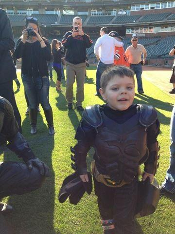 At the end of the day, Batkid needed a breather and he revealed his true identity!