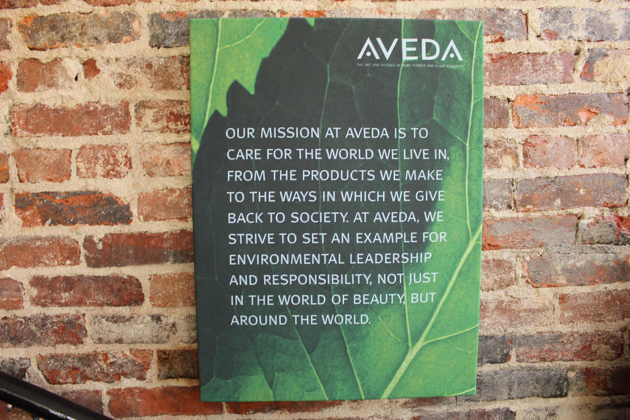 "Aveda's mission statement goes hand-in-hand with that of the salon's: ""Caring for the world we live in."" / Image: Katie Robinson, Cincinnati Refined // Published: 9.17.18"