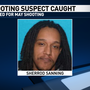 Shooting suspect apprehended out of town