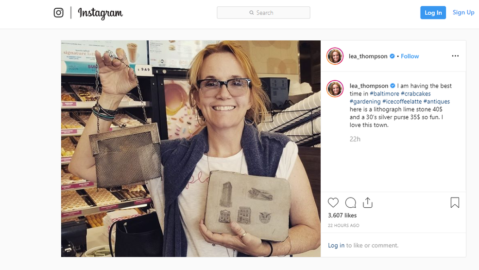 """""""Back to the Future""""'s Lea Thompson spotted in Parkville"""