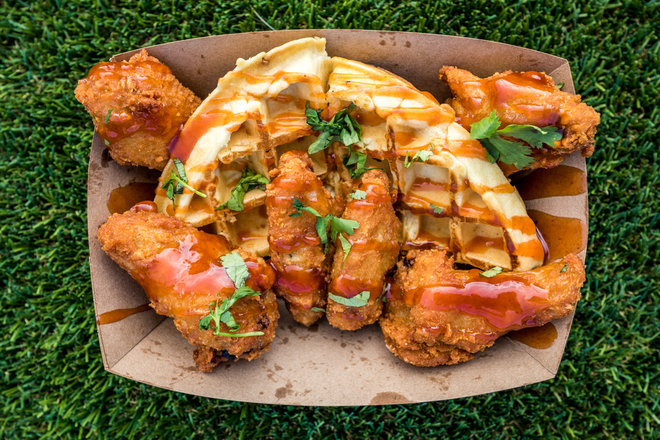 Wings & Waffles from YardBird / Image: Catherine Viox{ }// Published: 10.15.20