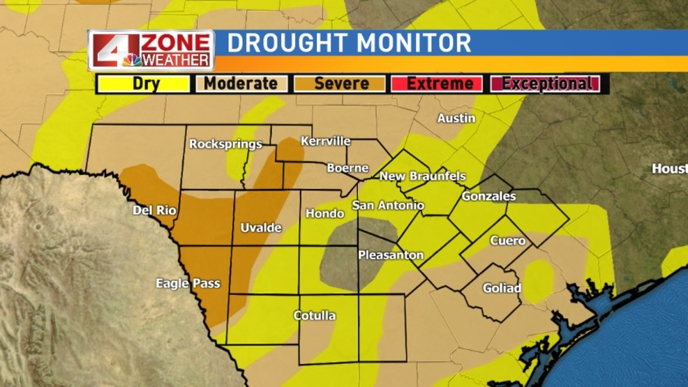 Recent rainfall results in big change in our drought status WOAI