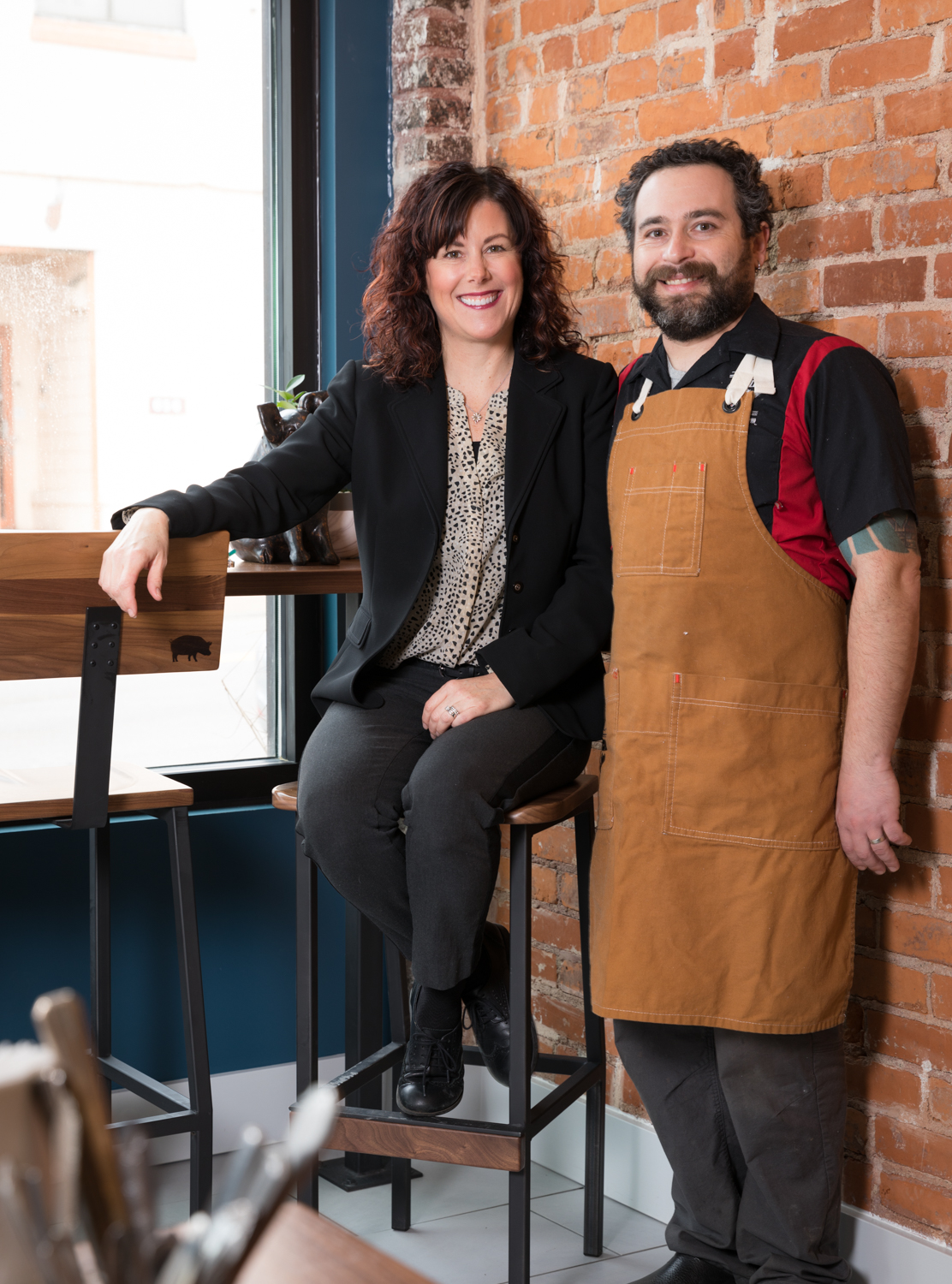 Husband and wife team, manager Elisabeth (Libby) & Chef Gary Leybman / Image: Marlene Rounds // Published: 3.12.19