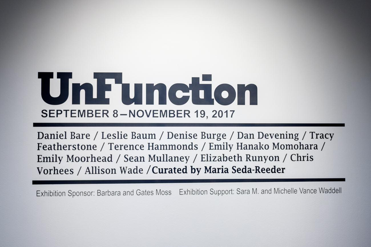 The Alice F. and Harris K. Waston Art Gallery is located in the northwestern corner of the building. There, a rotating exhibit of art is displayed throughout two floors. The current exhibit is UnFunction and will run through November 19th. / Image: Daniel Smyth // Published: 10.28.17