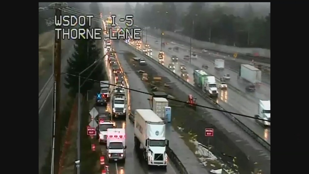 Rainfall causing extra accidents in Western Washington