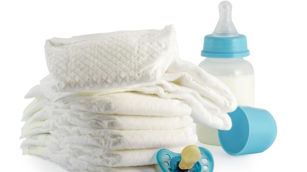 Lowcountry Man Gathering Diapers Formula And Wipes To