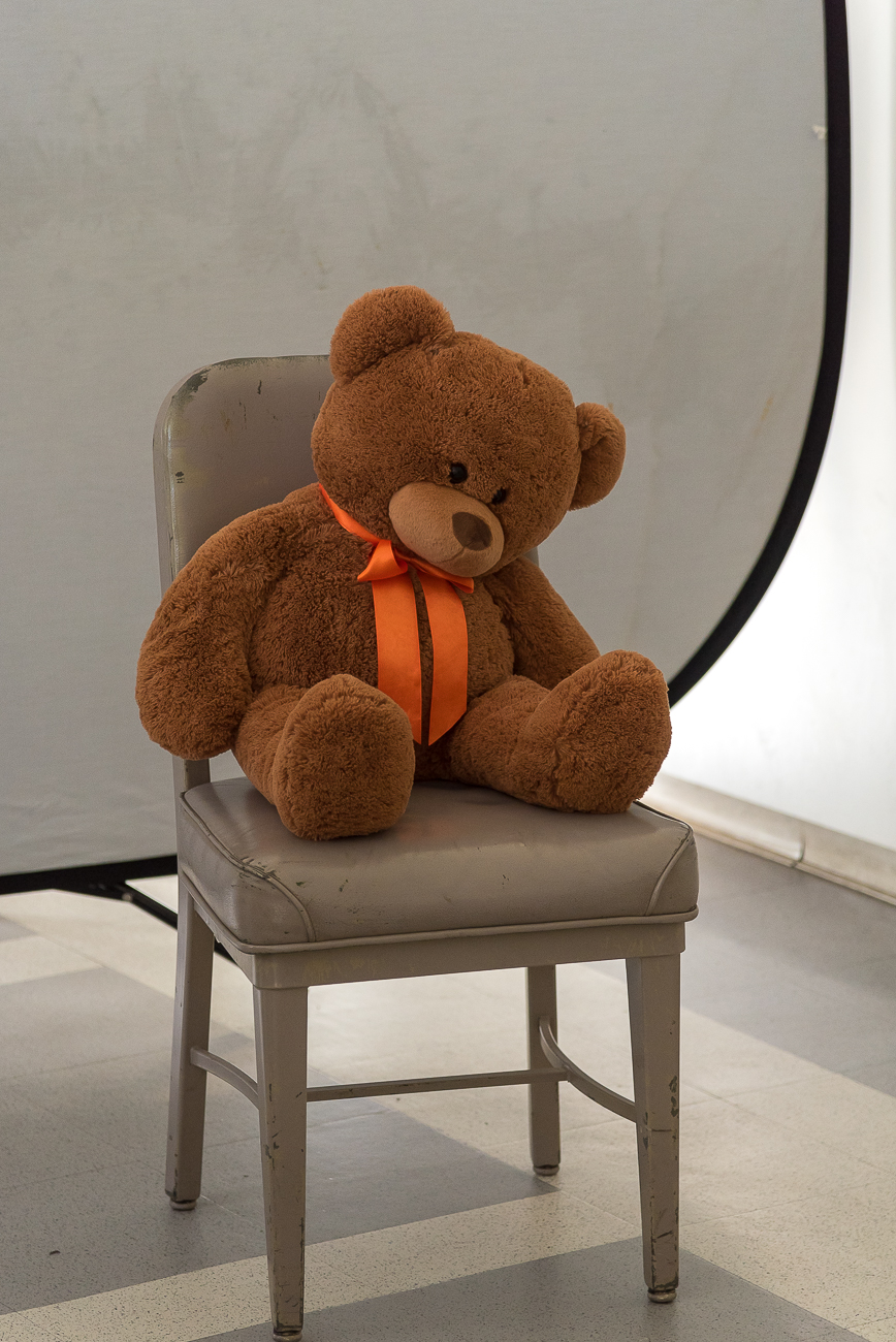 Props, such as oversized stuffed bears, give attendees of the class the chance to practice what they've learned in a controlled environment. / Image: Phil Armstrong, Cincinnati Refined // Published: 1.25.18<p></p>