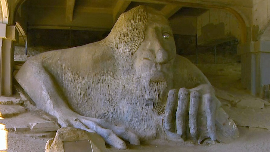The Freemont troll. (Photo: KOMO News)