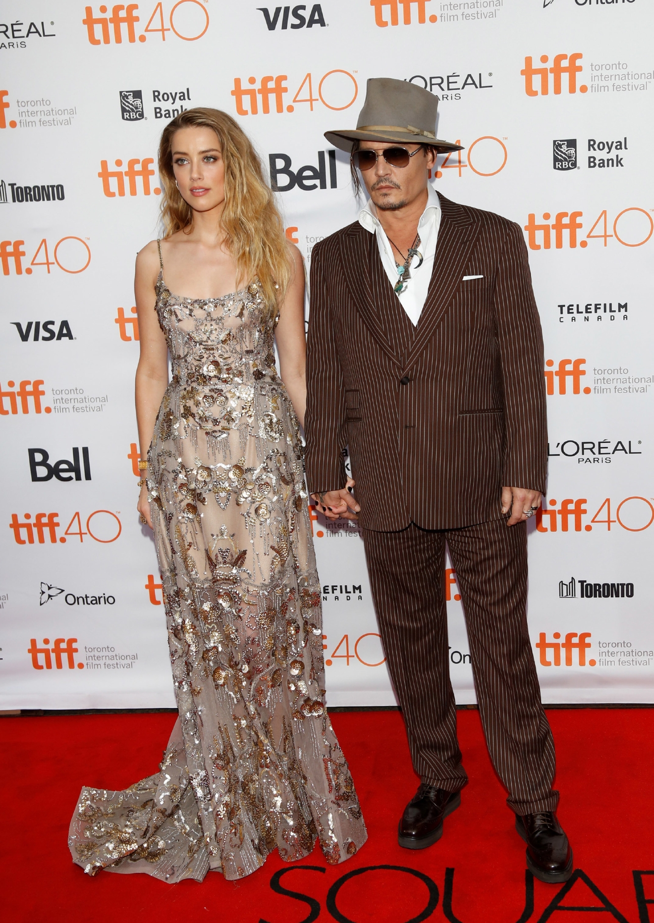Actors Johnny Depp and Amber Heard attend the premiere of The Danish Girl during the 40th Toronto International Film Festival, TIFF, at Princess of Wales Theatre in Toronto, Canada, on 12 September 2015. Photo: Ian Wilson                                    Featuring: Johnny Depp, Amber Heard                  Where: Toronto, Canada                  When: 12 Sep 2015                  Credit: WENN.com                                    **Not available for publication in Germany**