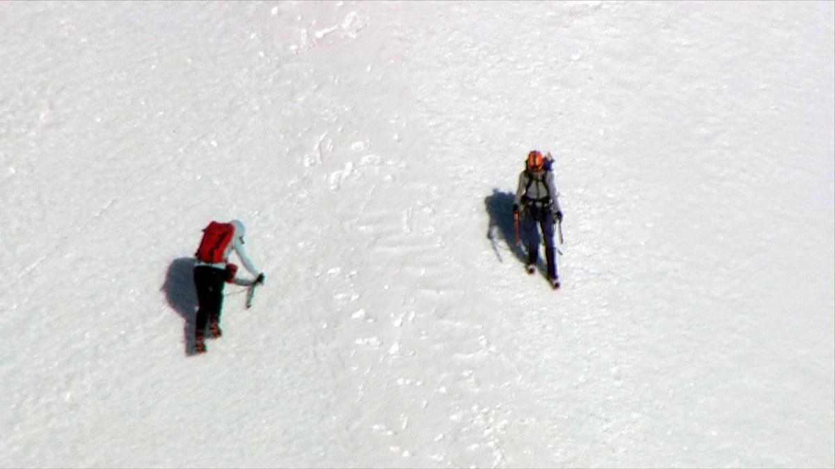 Rescue on Mt Hood February 13, 2018 - KATU Chopper 2<p></p>