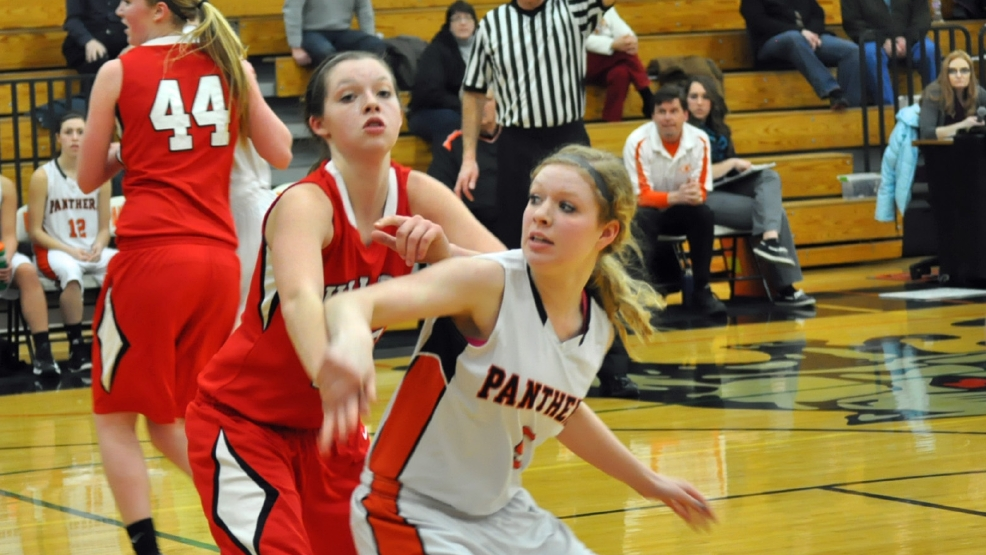 New London visited Oconto Falls in girls basketball Tuesday. (Doug Ritchay/WLUK)