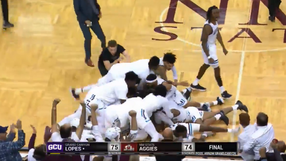 NMSU With A Buzzer Beater For Win Against GCU