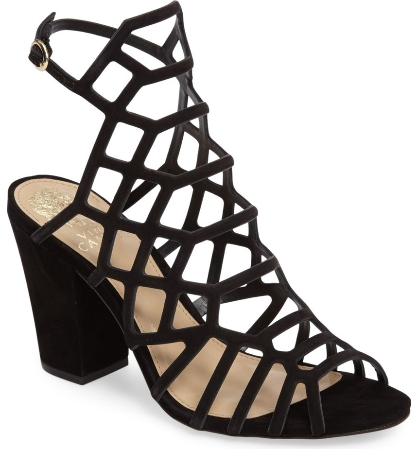 Not so boring black shoes.  Love these 'Naveen Cage Sandal'.  $119.95 (Image: Nordstrom)
