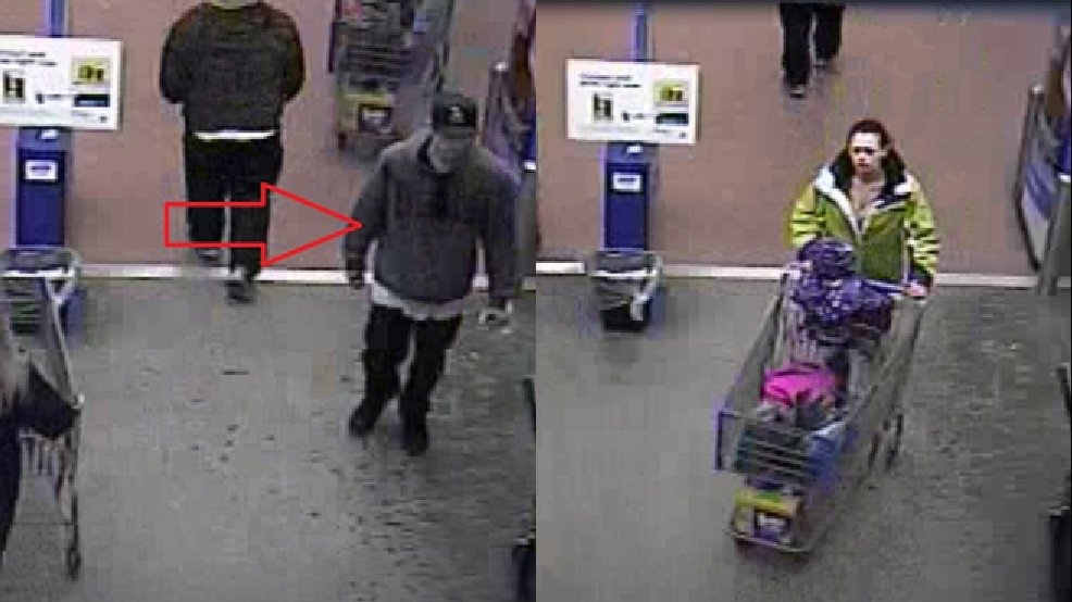Composite image of suspects in the use of a stolen credit card in Oshkosh. (OPD)