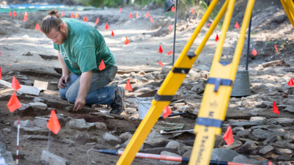 Archaeologists race to uncover colonial fort buried beneath a Windham road