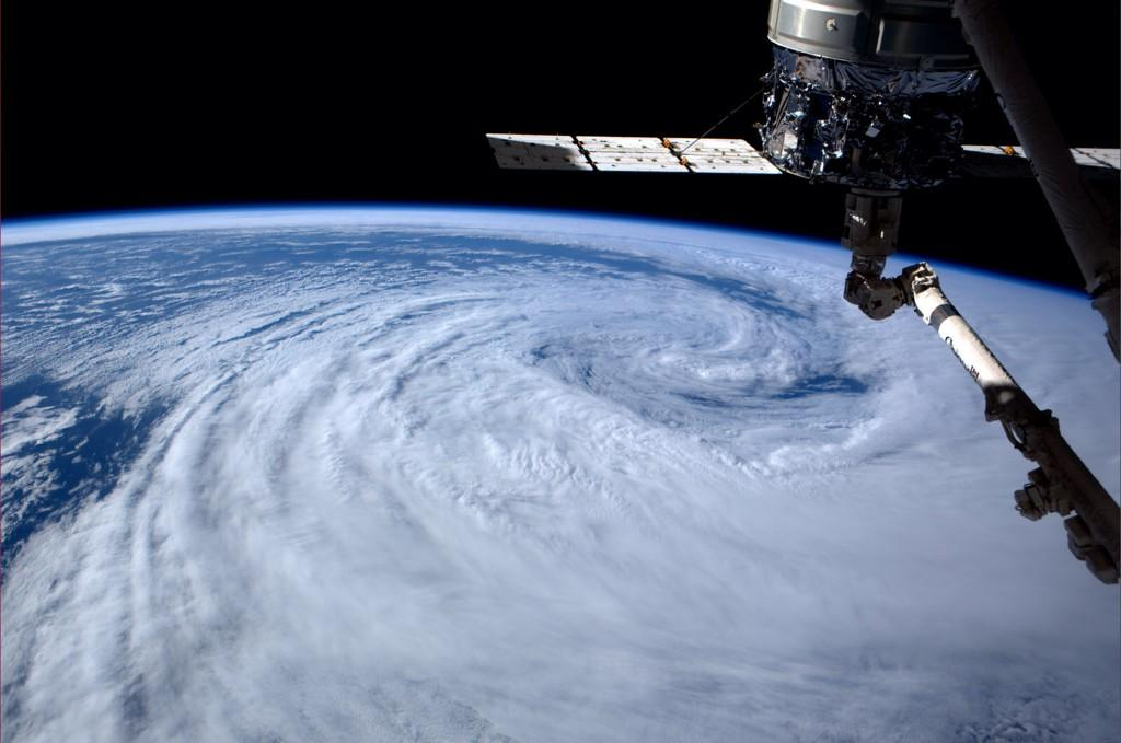 Great swirling clouds over the Atlantic near #Argentina (Photo & Caption: Reid Wiseman, NASA)