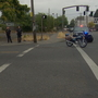 Police: Motorcyclist in bicycle lane drove into patrol car