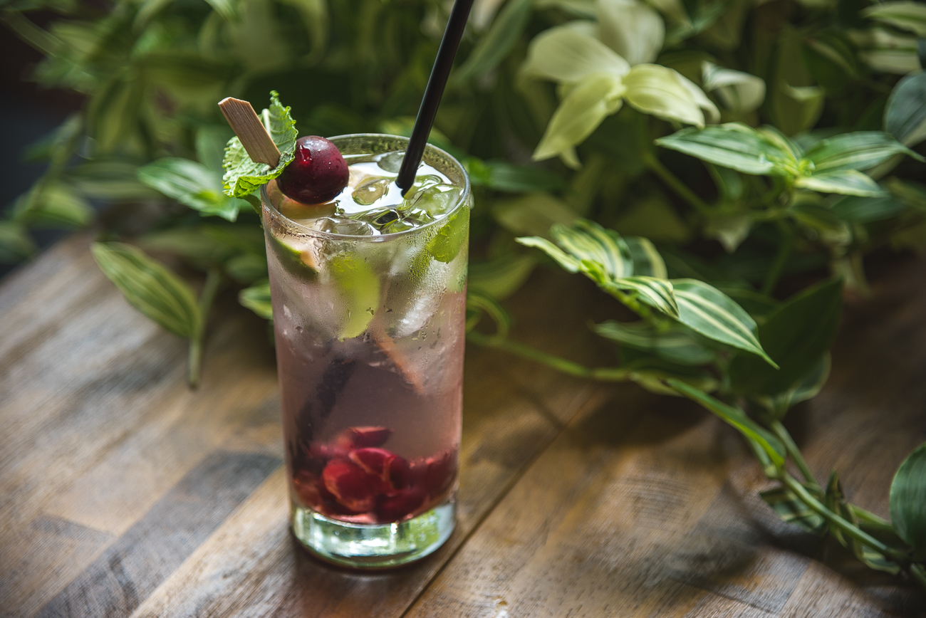"Pictured: Northside Distilling's moonshine-based tart cherry mojito from the gallery ""There Is A Distillery Downtown And It's In The Rising Court Street District"" / Image: Phil Armstrong, Cincinnati Refined // Published: 12.31.17<p></p>"