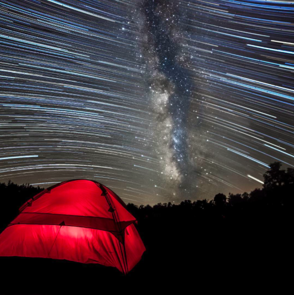 IMAGE: IG user @jj.bowen / POST: Watching the milky way streak by. So with star trails and with the shot of the milky way sometimes it's hard for people to get the movement of the sky... This shows where the milky way started the night out and moved off to the right setting just after sunrise. I thought it was something different so let me know what you think of it! /react-text @columbia1938 #ttnightphoto? =================================  Location: Cherry Springs State Park Date: 11Jul16 Camera: Canon 5D Mark II Lens: Rokinon 14mm Filter: N/A Shutter: 177 images at 30 seconds Iso: 6400, one at 400 Aperture : F2.8 =================================