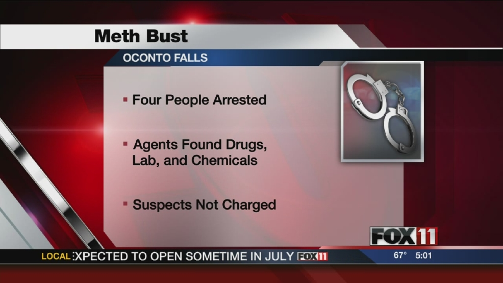 Four arrested in Oconto Falls meth investigation