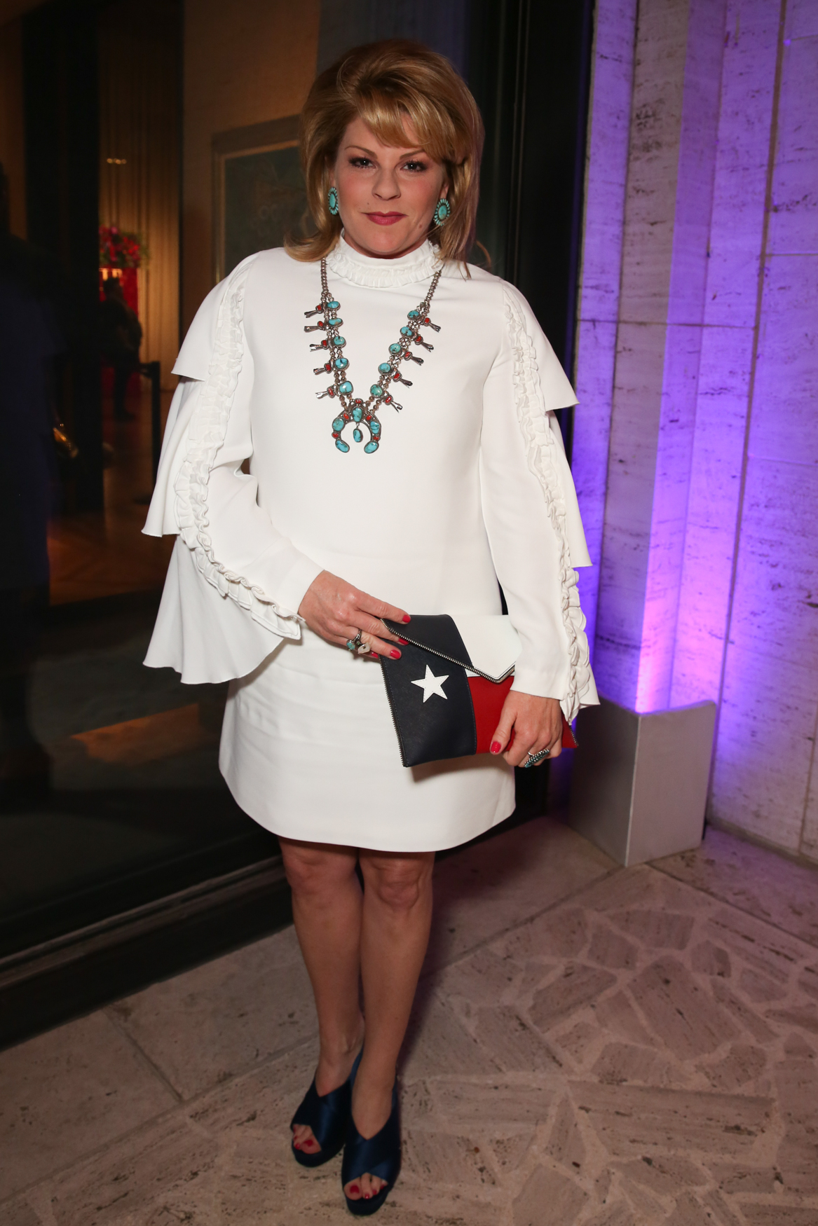 Meghan Johnson's outfit was totally Texas and super eye-catching - we love how the white frock upgrades the traditional turquoise jewelry.{ }(Amanda Andrade-Rhoades/DC Refined)