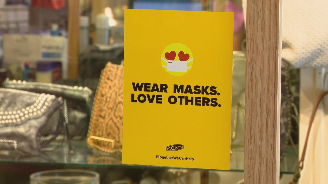"""Can private businesses deny shoppers entry if they don't wear a mask?""{ }a viewer asked News 13's I-Team Coronavirus Help Desk. (Photo credit: WLOS staff)"
