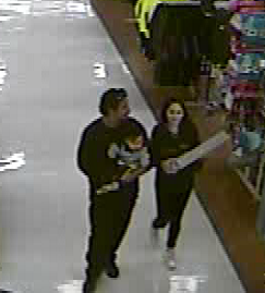 Kerrville police suspect couple of credit card abuse at several locations in the Kerrville area. (Photos provided by Kerrvile Police Department)