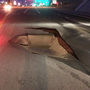 Sinkhole near I-84 shuts down road in Nampa ahead of Friday morning's commute