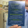 Addiction resource cards distributed at local pharmacies