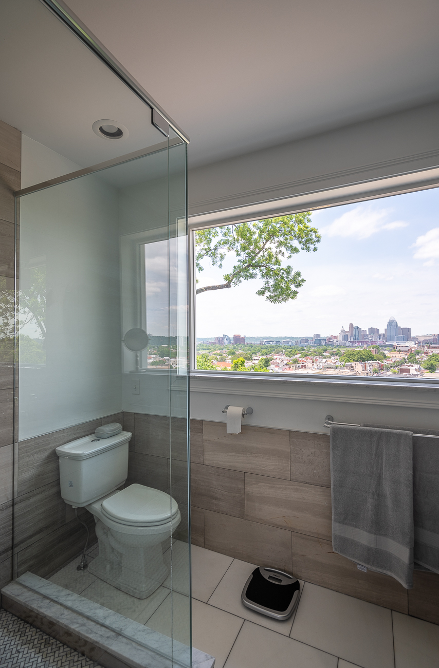 The view from David's second-floor toilet is better than the view most people have from any room in their house... / Image: Phil Armstrong, Cincinnati Refined // Published: 5.31.19