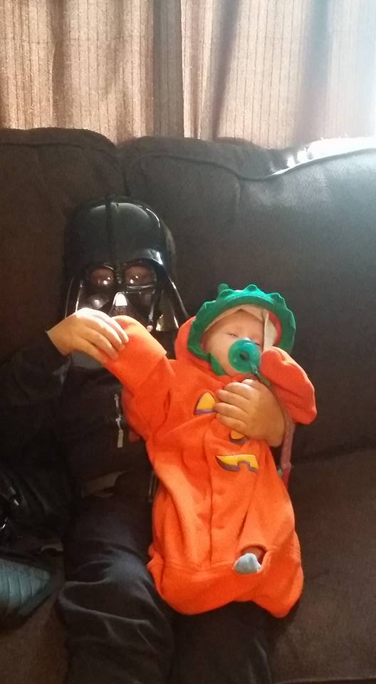 Darth Vader and pumpkin . Submitted by Shawna Malone
