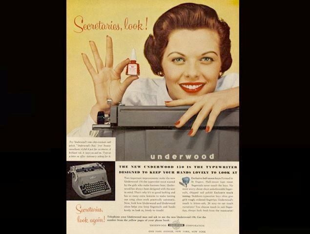 A typewriter designed just to keep your hands looking pretty.