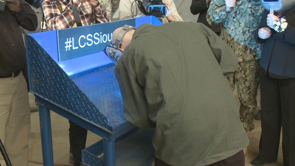 USS Sioux City keel laying