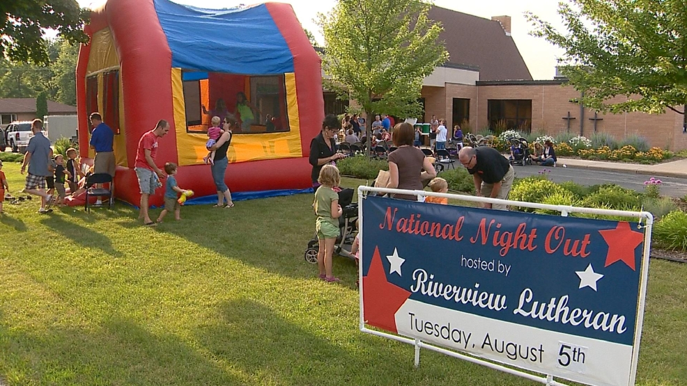 National Night Out celebration in Appleton, August 2014