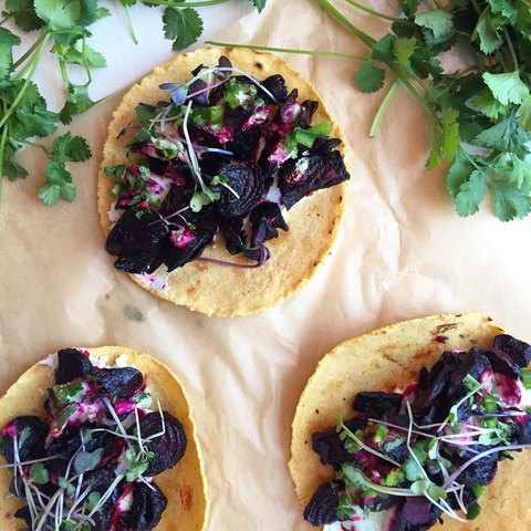 Roasted Beet Taco at Chaia (Photo credit: Chaia)<p></p>