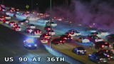 VIDEO: Hundreds of drivers shut down San Antonio highways to do doughnuts