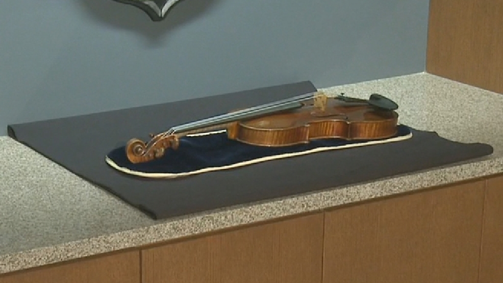 A view of the 300-year-old Stradivarius violin that was stolen from Milwaukee Symphony Orchestra concertmaster Frank Almond. (WITI)