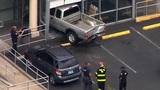 One hospitalized after pickup crashes through front of Happy Valley eye care center