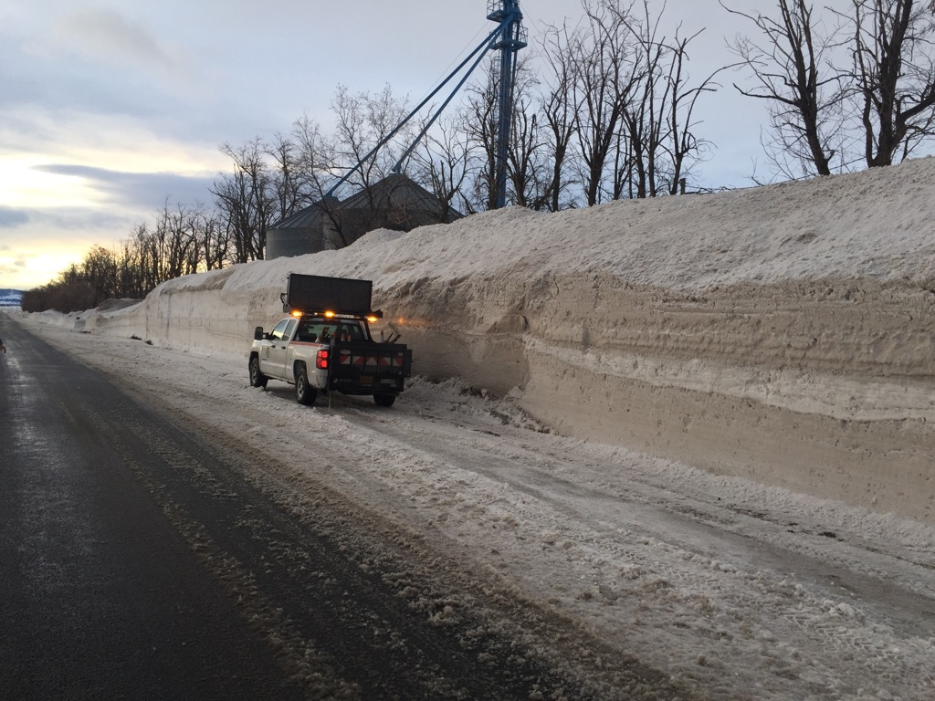The snowdrift on Cove Highway. The picture's worth a thousand words. (Photo: ODOT)