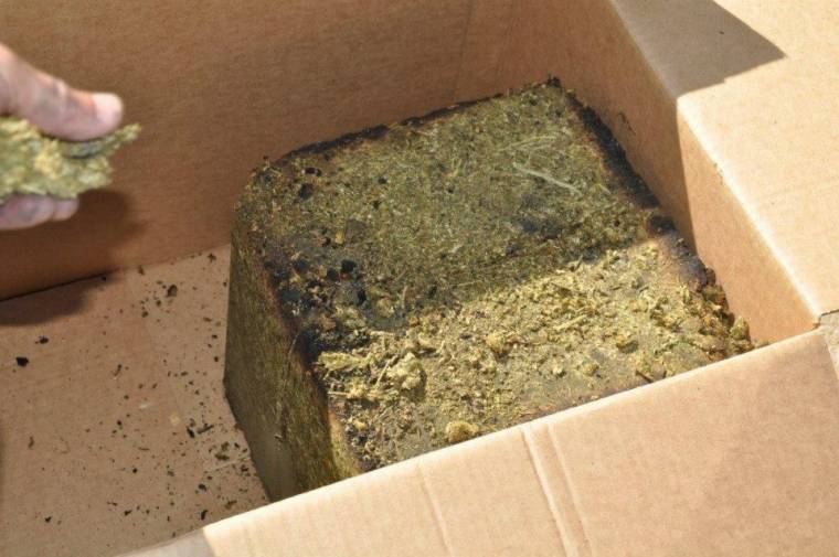 The Oklahoma County Sheriff's Office found 162 lbs of compressed marijuana.