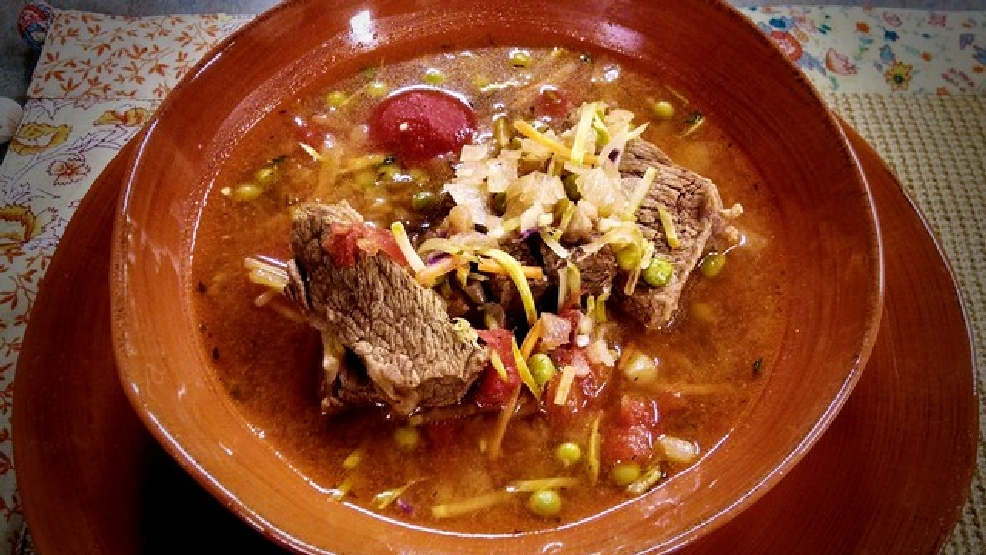 Slow Cooker Pot Roast Soup recipe featured on Fox 11 Living With Amy