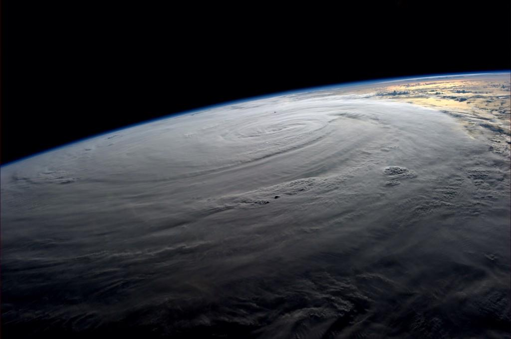 #Typhoon #Halong blankets the Earth. Wednesday at 0900GMT (Photo & Caption: Reid Wiseman, NASA)