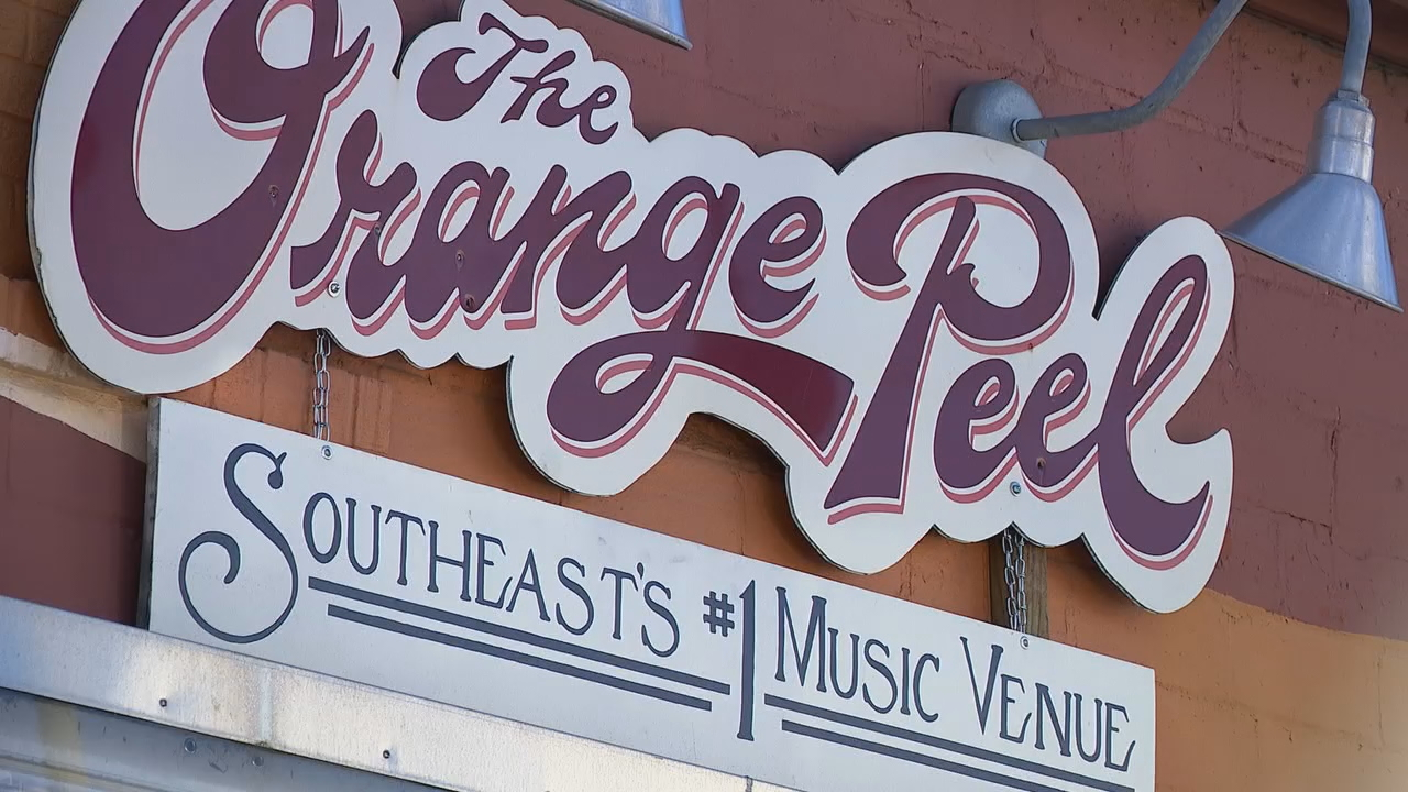 The Orange Peel in downtown Asheville, North Carolina (Photo credit: WLOS staff)