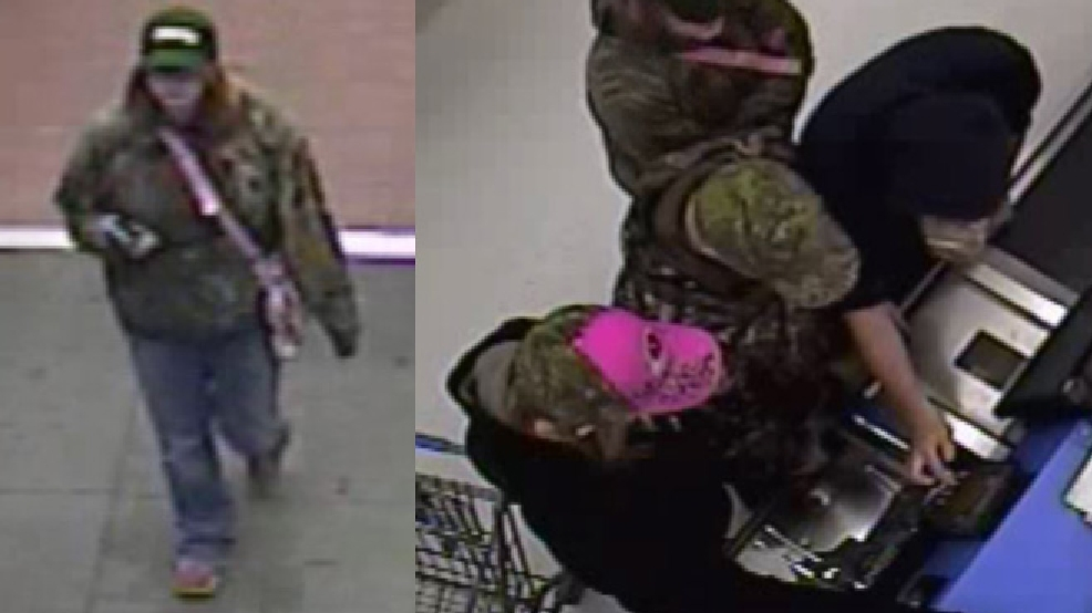 Surveillance images of the suspects in an April 8, 2014 attempted credit card fraud at the Oshkosh Walmart. (Oshkosh Police Dept.)