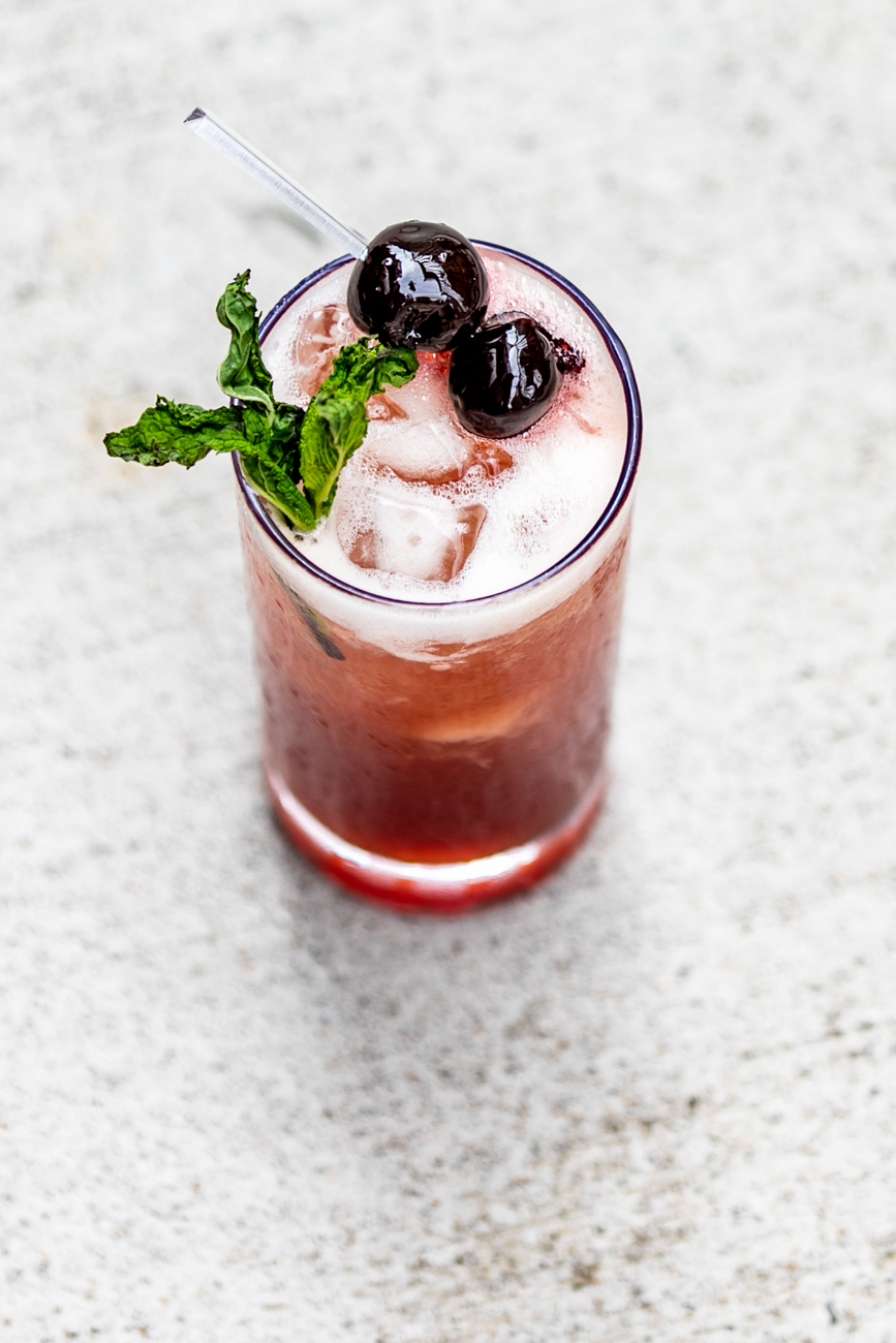 The Knock-Out: Disaronna, Amerena Cherry, lime, mint, and soda / Image: Amy Elisabeth Spasoff // Published: 8.20.18