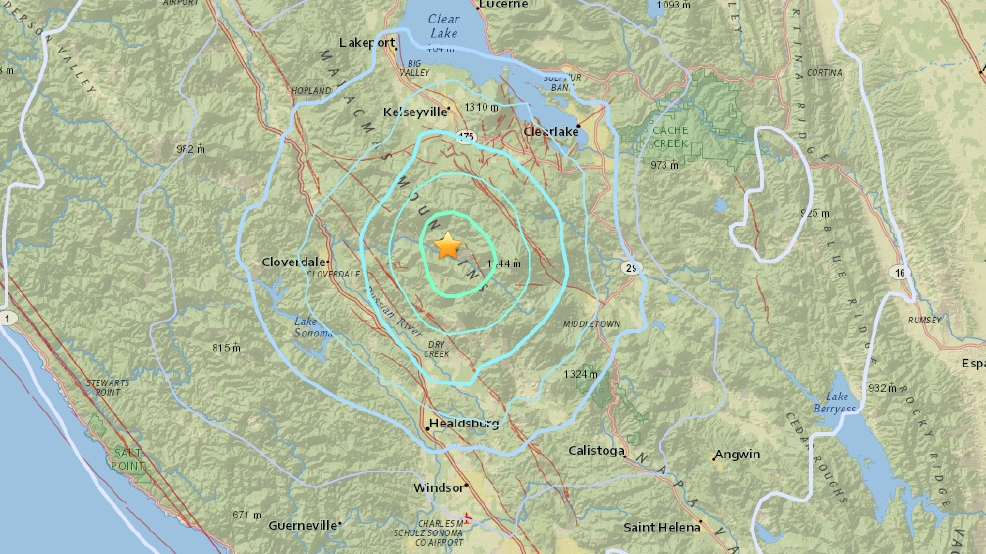 a 4 7 magnitude earthquake was recorded near the geysers california on wednesday morning image courtesy u s geological survey