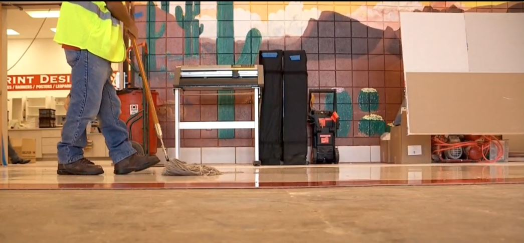 East High School rushes to fix damages caused by flash flooding (Photo:KUTV)